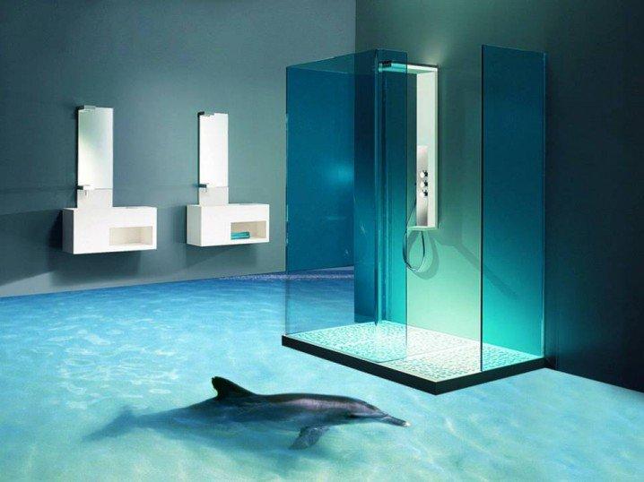 L tv nyos 3d s f rd szoba padl k for Bathroom designs 3d